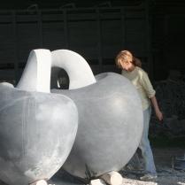 Enniscorthy public art commission: Kilkenny limestone