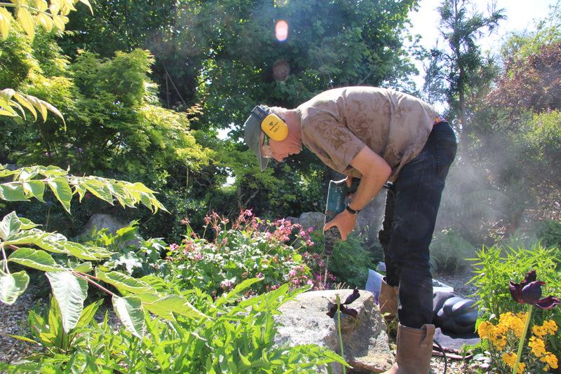 Installing on granite boulder