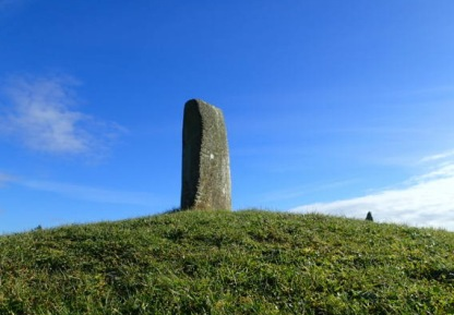 Ogham stone at Bunmahon on the Copper Coast