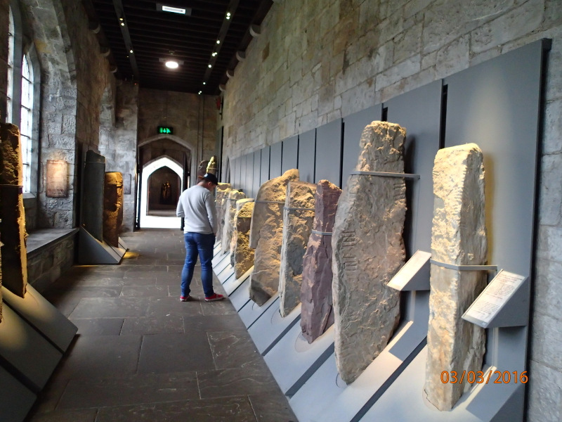 Ogham stones in the Quadrangle at UCC
